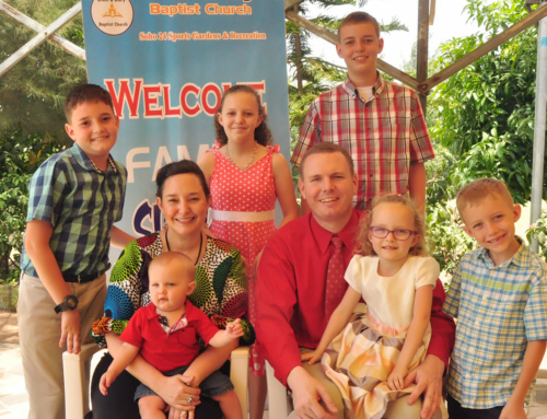 Mark and Sabrina Holmes Prayer Letter:  Welcoming a New Missionary