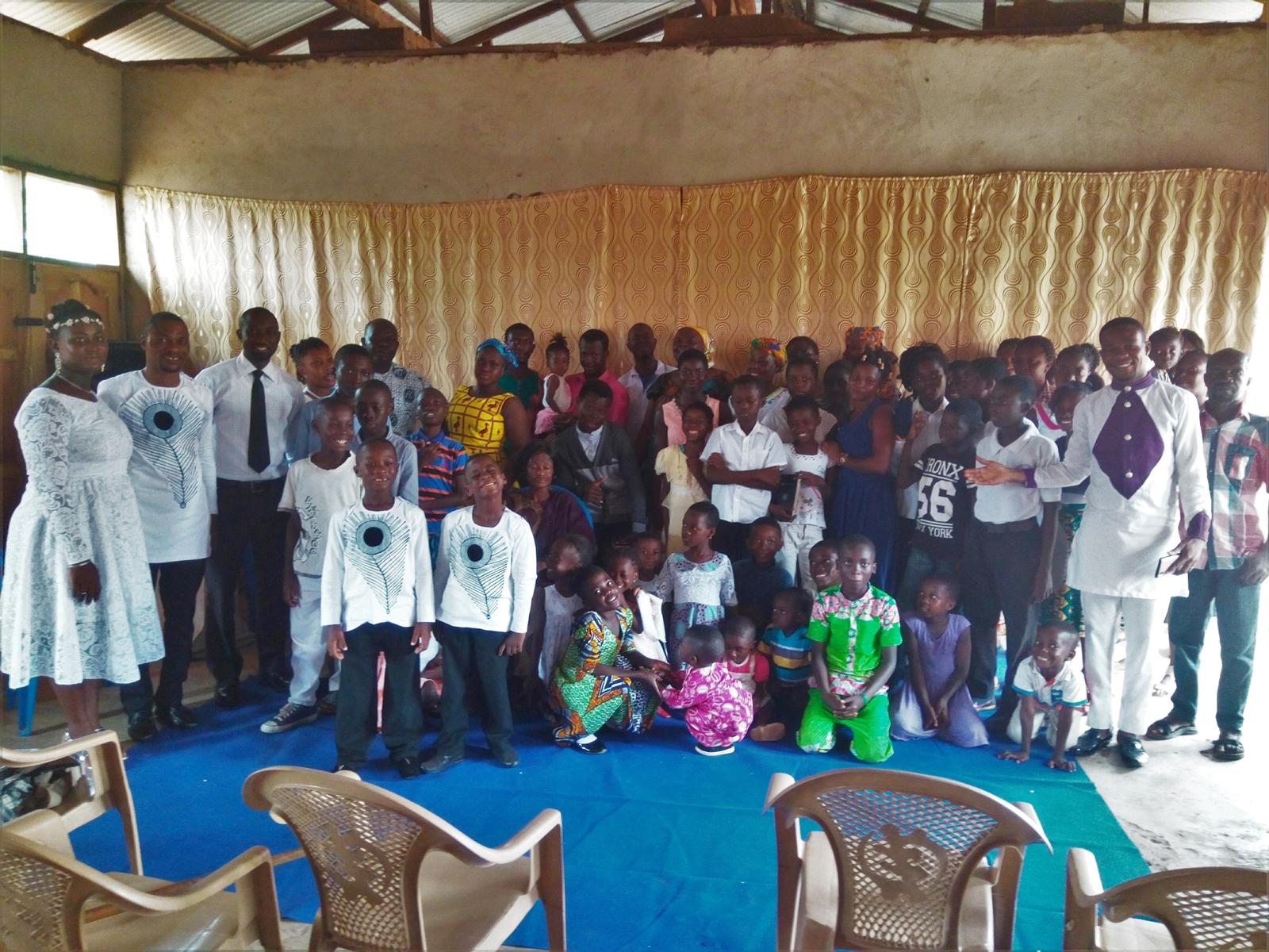 Pastor Gyasi Boateng and his church congregation