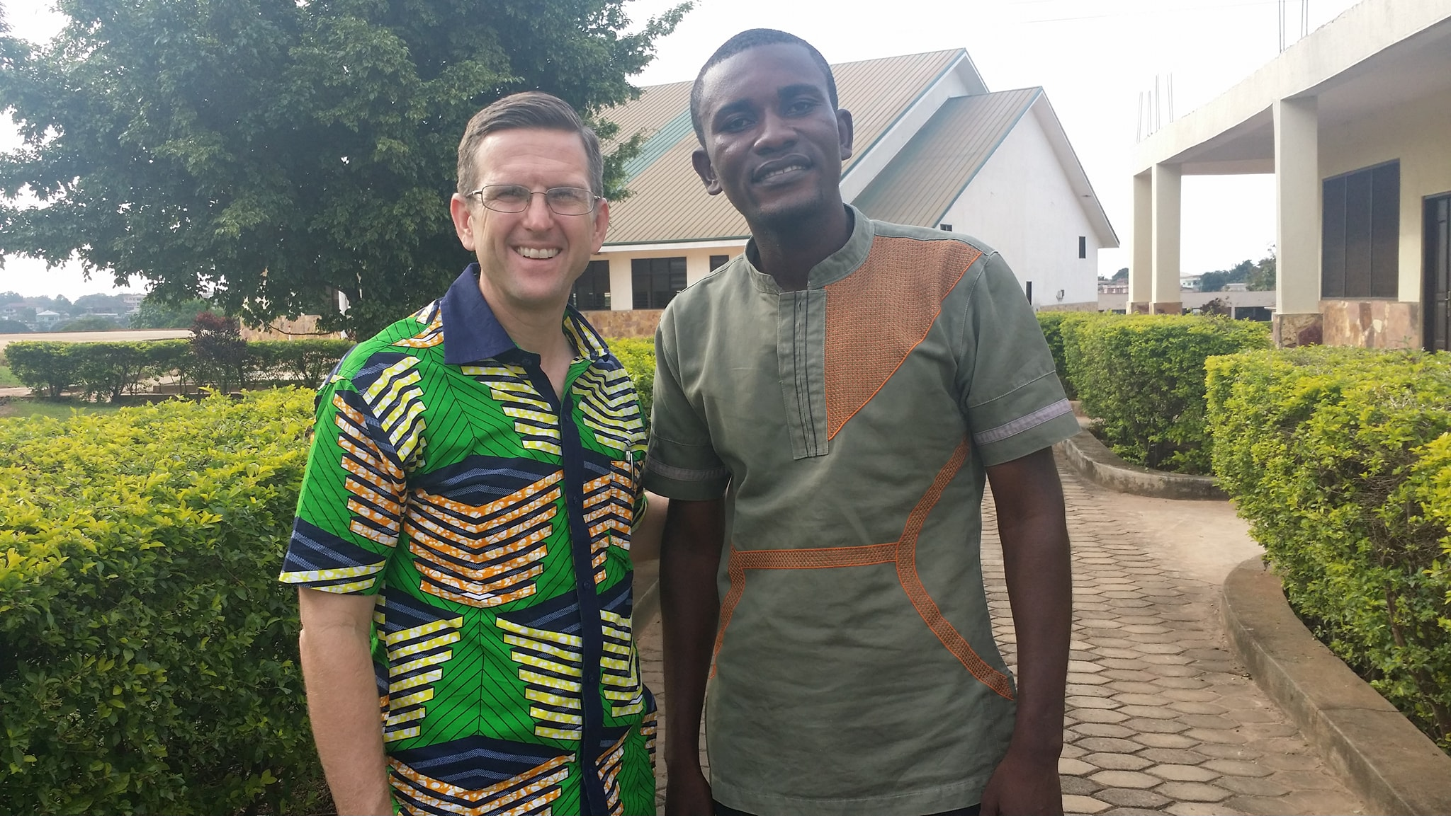 Missionary Ted Speer with Emmanuel