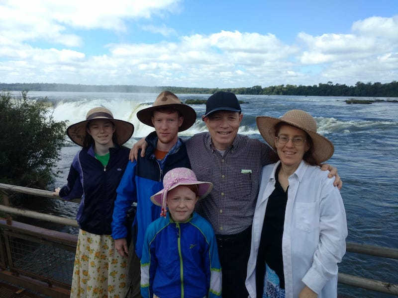 The George Family at the Falls